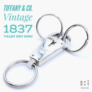 Tiffany & Co. Vintage 1837 Valet Key Ring